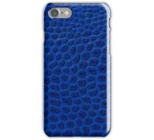 Blue leather  iPhone Case/Skin