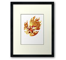 Smash Diddy Kong Framed Print
