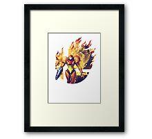 Smash Samus Framed Print