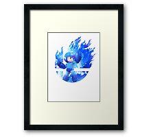 Smash Megaman Framed Print