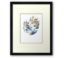 Smash Fox Framed Print