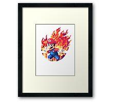 Smash Mario Framed Print