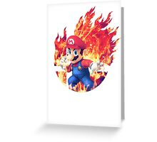 Smash Mario Greeting Card