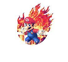 Smash Mario Photographic Print