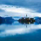 Autumn dusk at Lake Bled by Ian Middleton