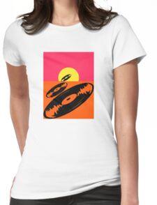 Pop Art Vinyl Record Endless Womens Fitted T-Shirt