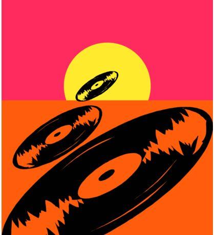 Pop Art Vinyl Record Endless Sticker