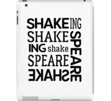 shakespeare typography t shirts iPad Case/Skin