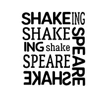 shakespeare typography t shirts Photographic Print