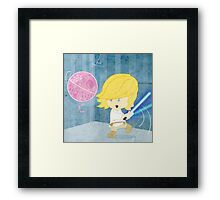 Star Wars babies - inspired by Luke Skywalker Framed Print