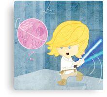 Star Wars babies - inspired by Luke Skywalker Canvas Print