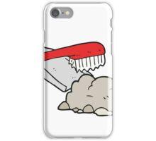 cartoon dust pan and brush sweeping iPhone Case/Skin