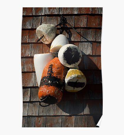 Lobster floats ~ Peggy's Cove Nova Scotia Poster