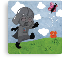 Star Wars babies - inspired by Darth Vader Canvas Print
