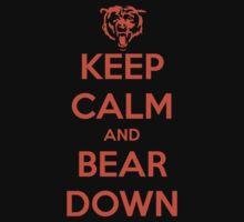 Keep Calm and Bear Down Kids Tee
