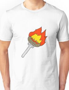 cartoon sausage on fork Unisex T-Shirt