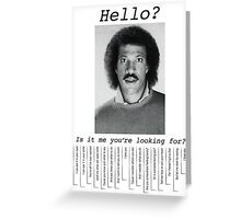 Hello? Greeting Card