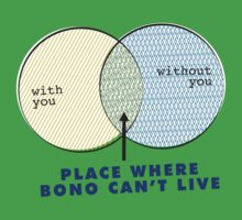 Where Bono Can't Live One Piece - Short Sleeve