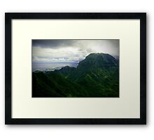 Green Giants - Napali Coast - Kauai  Framed Print