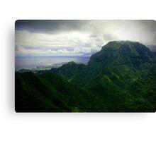 Green Giants - Napali Coast - Kauai  Canvas Print