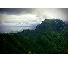 Green Giants - Napali Coast - Kauai  Photographic Print