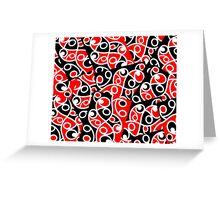 Maori Kowhaiwhai Layered Pattern Greeting Card