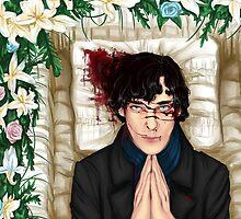 Sherlock Casket Pillow by sakibatch
