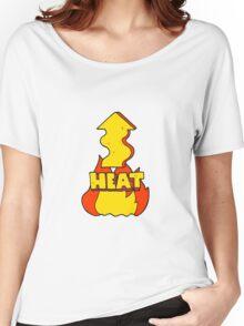 cartoon heat rising  Women's Relaxed Fit T-Shirt
