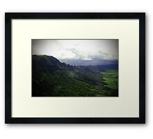 Green Giants Valley - Napali Coast - Kauai  Framed Print