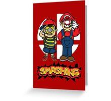 Smashing- B Greeting Card