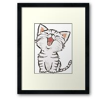 American Shorthair happy Framed Print