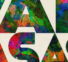 Kansas Typographic Watercolor Map Sticker