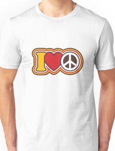 I Love Peace Unisex T-Shirt