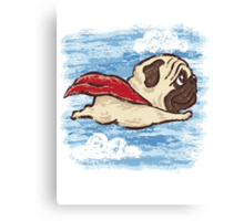 Flying Pug Canvas Print