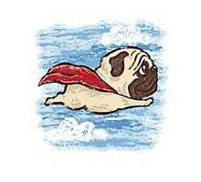 Flying Pug Photographic Print