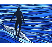 Glide Boy Blue Photographic Print