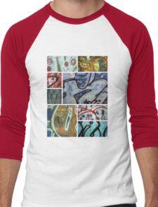 Graffiti Montage Men's Baseball ¾ T-Shirt