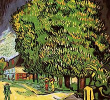 Chestnut Trees in Blossom by Vincent van Gogh.  by naturematters