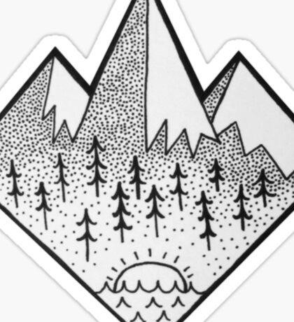 Mountain Tops Sticker