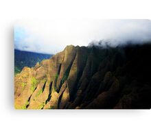 Misty Mountains - Napali Coast - Kauai Canvas Print