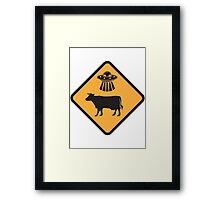 Cow Abduction Framed Print