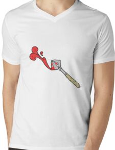 cartoon bloody medieval mace Mens V-Neck T-Shirt