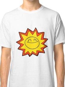 happy cartoon sun Classic T-Shirt