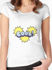 cool cartoon symbol Women's Fitted Scoop T-Shirt