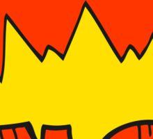 cartoon NO! shout Sticker