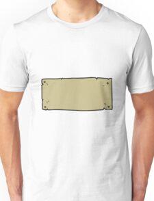 cartoon blank sign Unisex T-Shirt