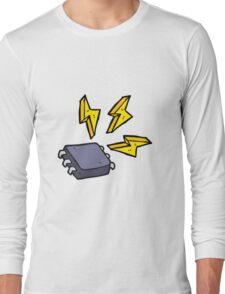 cartoon computer chip Long Sleeve T-Shirt