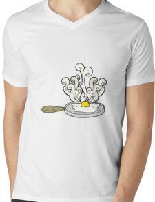 frying cartoon egg Mens V-Neck T-Shirt