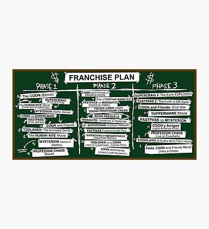 Franchise Plan Photographic Print