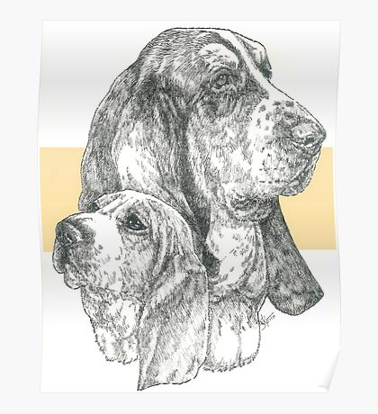 Basset Hound, Father & Son  Poster